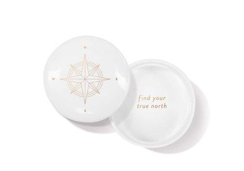 Compass Round Trinket Box