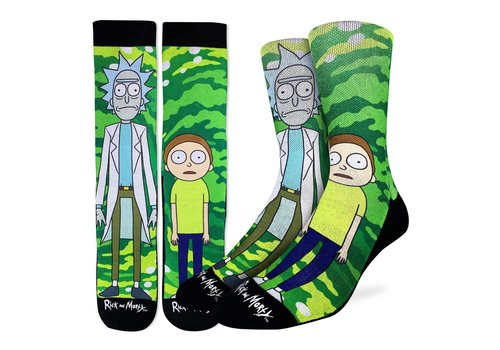 Good Luck Sock Men's Rick and Morty Socks
