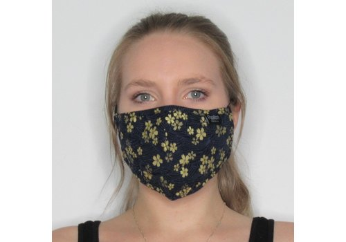 Papillon Gold Floral Cotton Face Mask