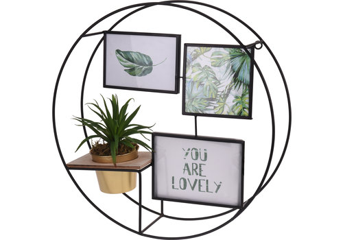 Display Rack With 3 Photo Frames