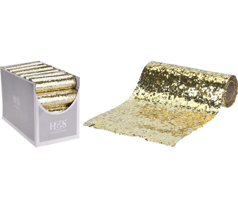 Decor Fabric Sequins Gold 14x250cm