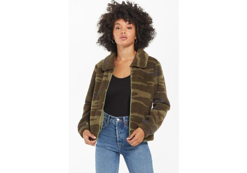 Z Supply Camo Sherpa Crop Jacket