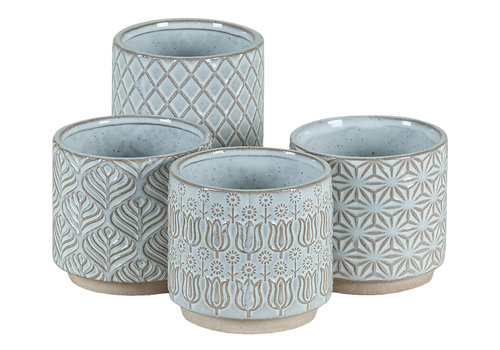 Hill's Imports White Round Pottery