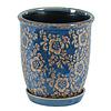 Hill's Imports Marine Blue Round Flower Pot