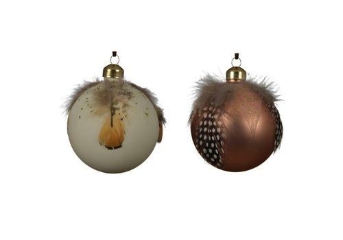 Kaemingk Feather Glitter Bauble