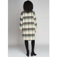 Button Down Long Plaid Coat