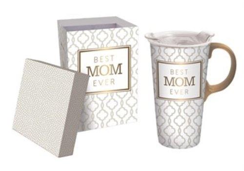 Cypress Home Ceramic Travel Cup Best Mom Ever 17oz