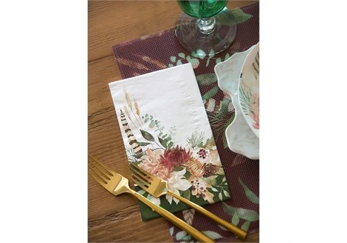 Cypress Home Metallic Paper Guest Towel Wild Harmony