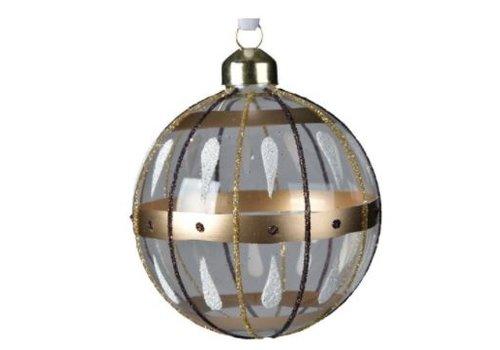 Kaemingk Glitter Stripe Glass Bauble