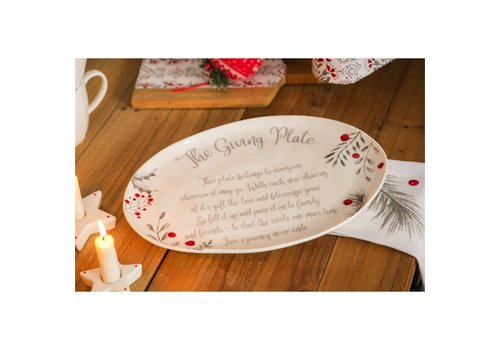 Cypress Home Ceramic Platter Yuletide 10""