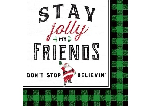 Cypress Home Paper Cocktail Napkin Stay Jolly