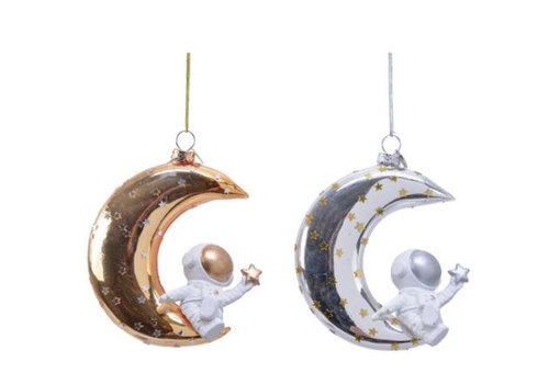 Kaemingk Astronaut On Moon Ornament