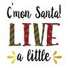 Cypress Home Foil Paper Cocktail Napkin C'mon Santa