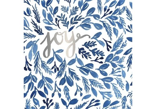 Cypress Home Foil Paper Cocktail Napkin Joy