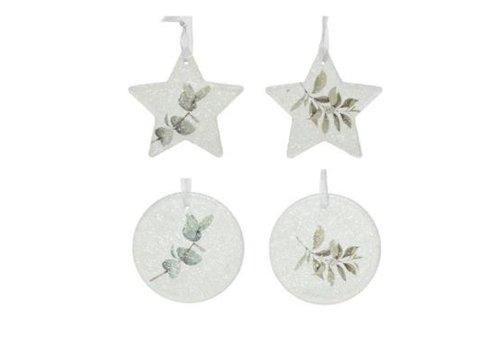Kaemingk Glitter Leaf Ornament