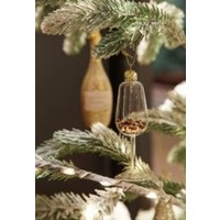 Wine Glass With Glitter Ornament