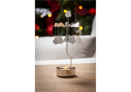 Cypress Home Rotary Tealight Candle Holder Bells