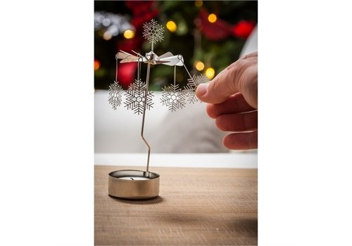 Cypress Home Rotary Tealight Candle Holder Snowflakes