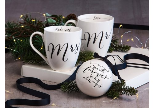 Cypress Home Ceramic Cup O' Java and Ornament Gift Set Wedding