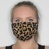 Papillon Leopard Adjustable Cotton Face Mask