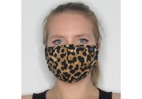 Papillon Leopard Adjustable Cotton Face Mask