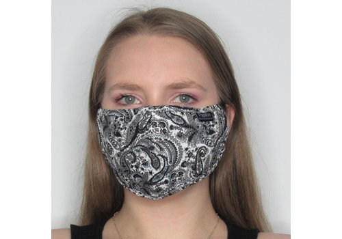 Papillon Paisley Adjustable Cotton Face Mask