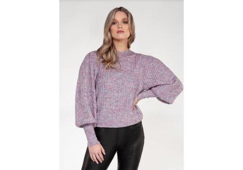 Black Tape Puff Long Sleeve Sweater