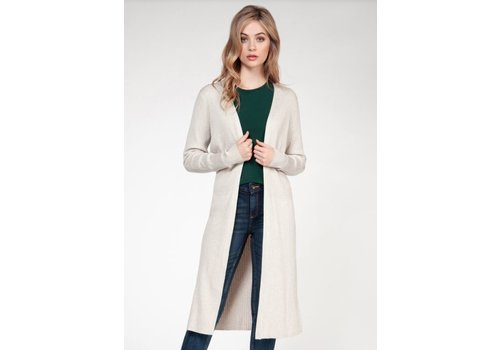 Dex Long Sleeve Ribbed Sweater Cardigan