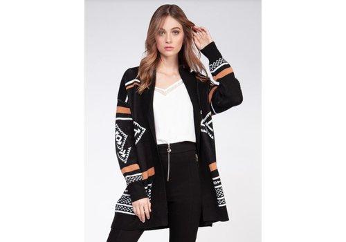 Dex Long Sleeve Tribal  Sweater Cardigan