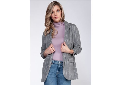 Dex Ruched Sleeve Blazer With Pocket