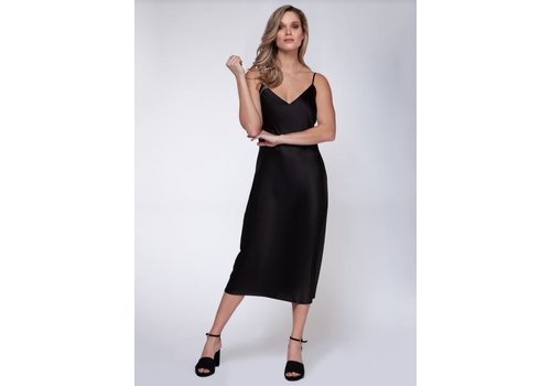 Black Tape Slip Dress