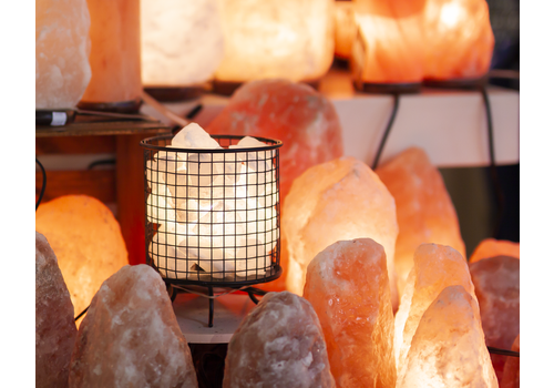Salt First Himalayan Salt Lamp Cylinder Basket