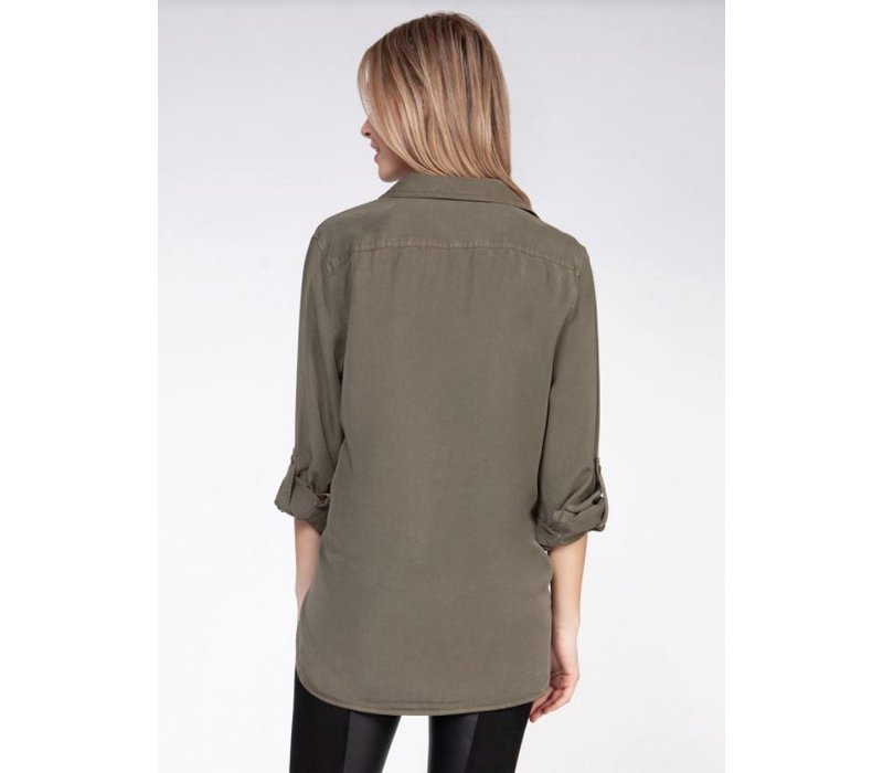 Long Sleeve 2 Pocket Blouse