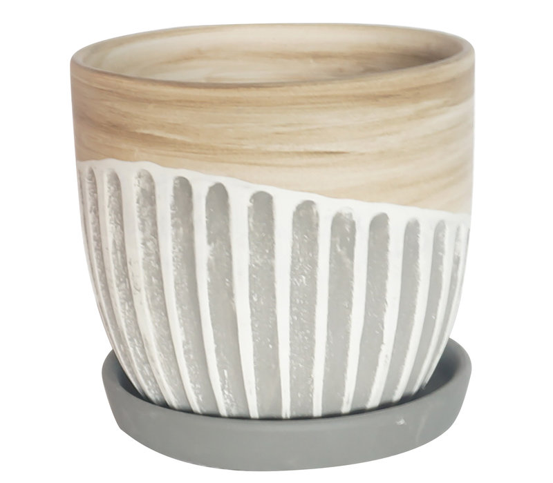 Alise Planter With Saucer