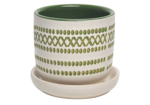 Border Concepts XOXO Egg Pot With Saucer