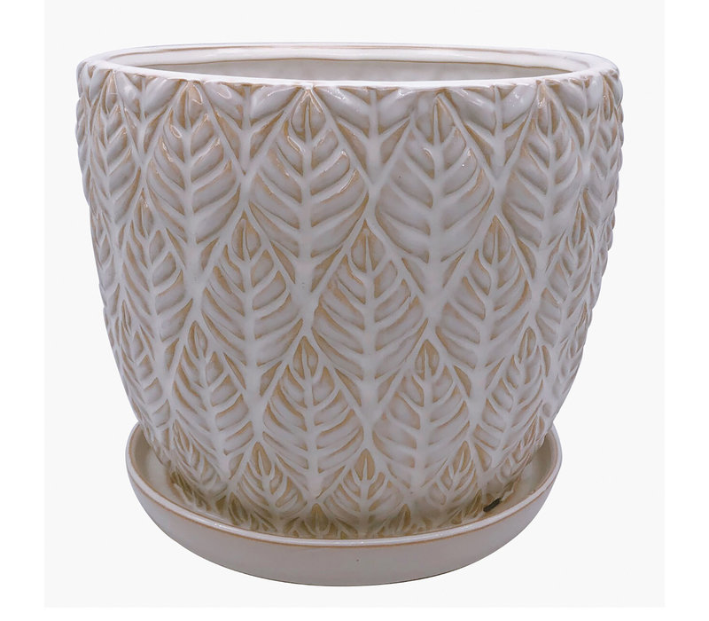 Sherborn Planter With Saucer