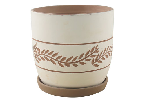 Border Concepts Hallie Fern Planter With Saucer