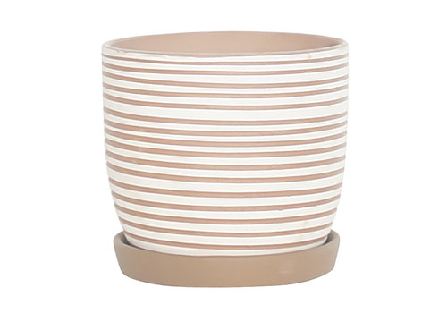 Border Concepts Hallie Swirl Planter With Saucer
