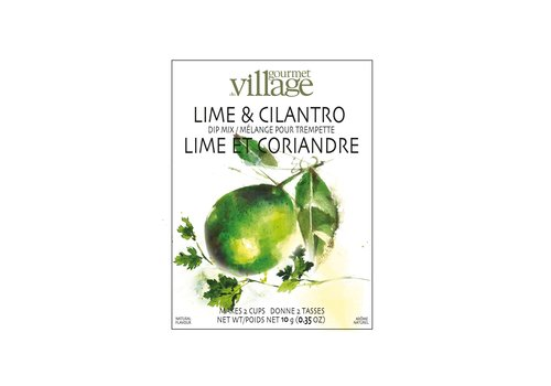 Gourmet Du Village Dip Recipe Box Lime Cilantro