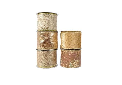 Kaemingk Polyester Ribbon With Wire Gold