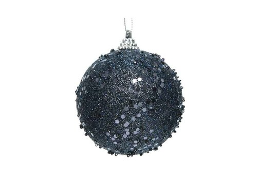 Kaemingk Glitter Bauble Night Blue