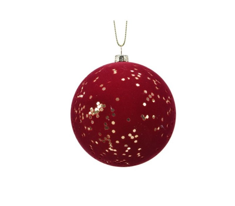 Flock Finish Ball With Gold Stars Oxblood/Gold