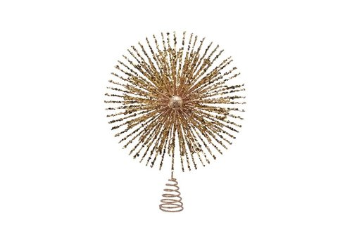 Kaemingk Tree Topper Star Sparkles Gold