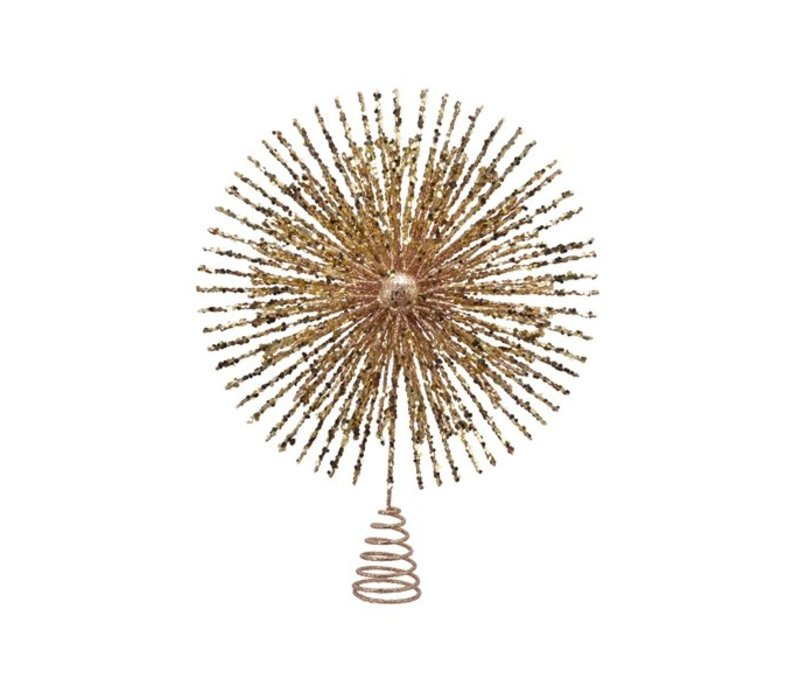 Tree Topper Star Sparkles Gold
