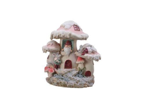 Kaemingk Coin Bank Mushroom House