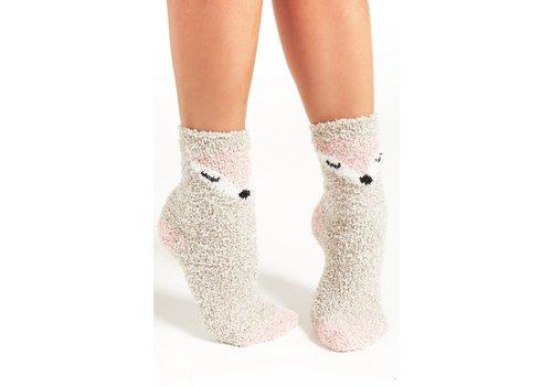 Z Supply Foxy Plush Socks Birch One Size