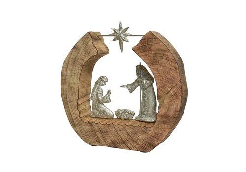 Kaemingk Mango Wood Nativity Scene