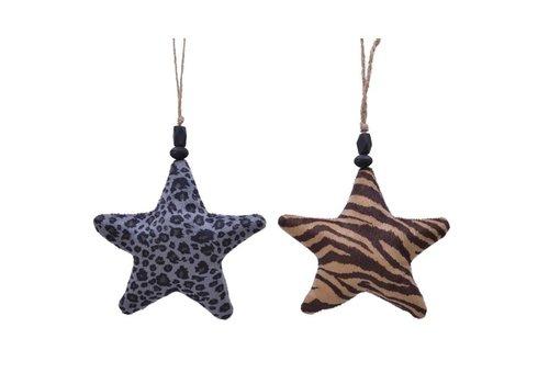 Kaemingk Velvet Animal Print Star