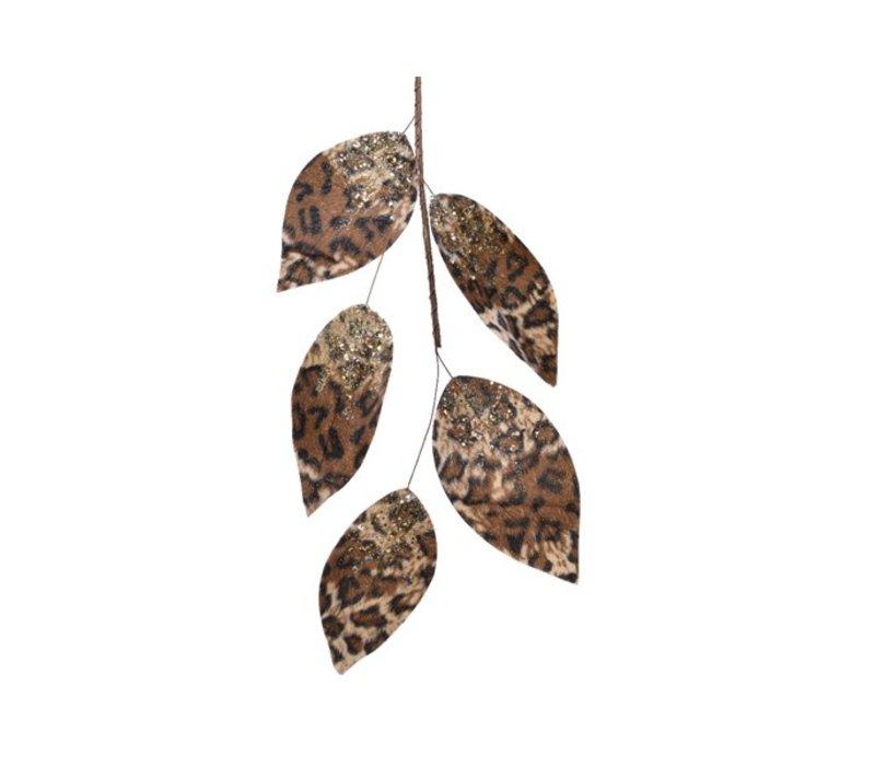 Leaf Garland Leopard Brown and Gold