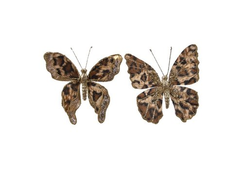 Kaemingk Butterfly Clip Leopard Brown and Gold